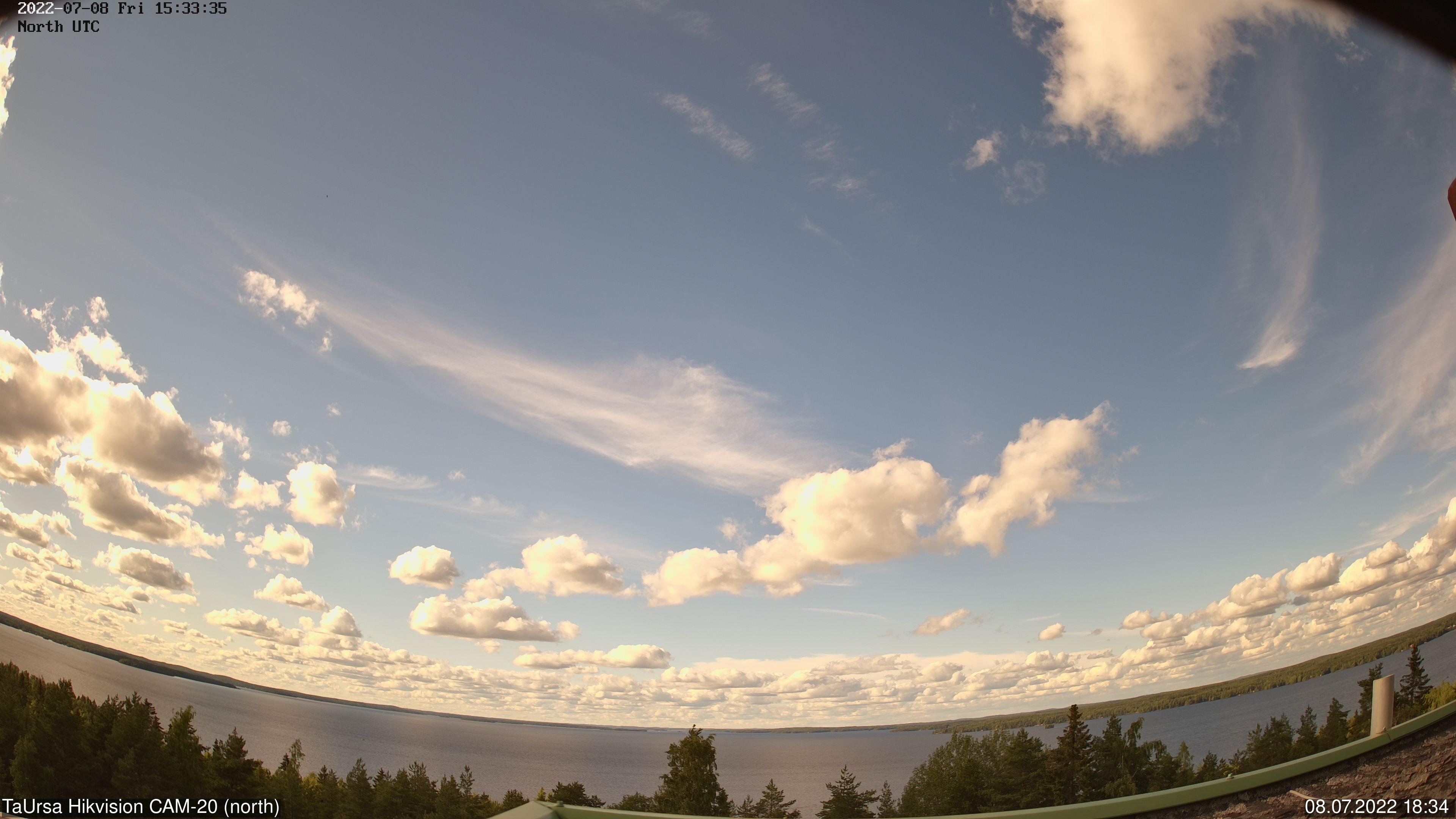 Tampere, Finland - North-East aurora live camera