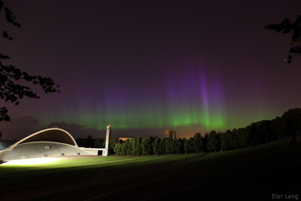 Auroras at Tallinn Singin festival grounds, 20th of August 2014